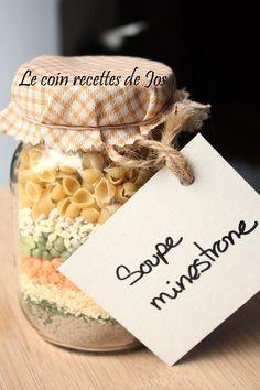 Le coin recettes de Jos: SOUPE MINESTRONE (pot à offrir)