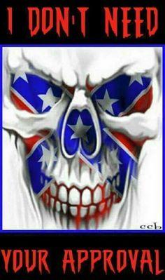 Skull n rebel flag Southern Heritage, Southern Pride, Southern Style, Crane, Totenkopf Tattoos, Bild Tattoos, Confederate Flag, Airbrush Art, Skull Tattoos