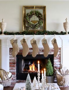 A Casual Chic French Christmas Tour - Maison Style French Christmas Decor, The Best Of Christmas, Christmas Mantels, Cozy Christmas, Rustic Christmas, White Christmas, Christmas Christmas, Xmas, Christmas Ideas