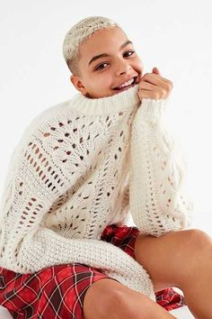UO Devon Pointelle Knit Sweater