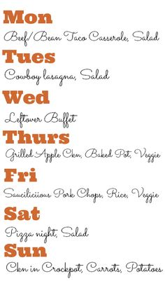 cool Simply Meal Planning #4