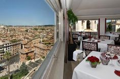 Dinner with a View, at Hotel Hassler Roma in Italy.