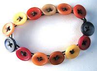 How to make a button bracelet  My friend CZ  makes beautiful button bracelets.