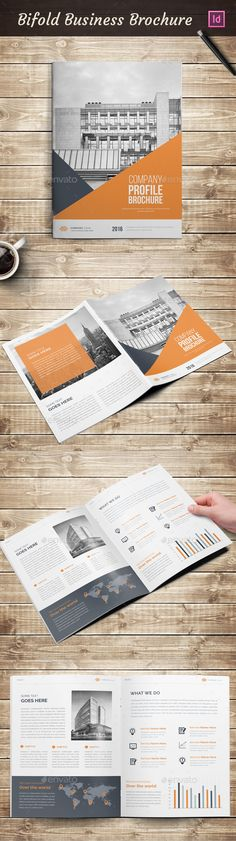 Clean Minimalistic Tri-Fold Brochure Template available for download