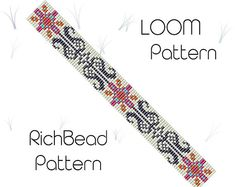 Loom pattern for bracelet Beading pattern Seed bead cuff DIY jewelry Bookmark PDF Geometric bookmark Cuff bracelet Square stitch jewelry ++++++++++++++PDF Instant Digital Download ++++++++++++ This is a pattern for a bracelet, not the real bracelet. I use Miyuki Delica seed beads
