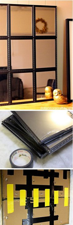 Check out how to build a DIY mirror from Dollar Store finds @istandarddesign