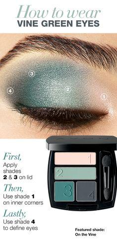 How to wear vine green eyes #AvonCanada