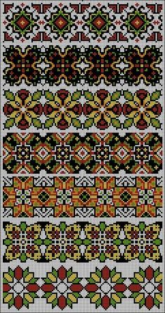 This Pin was discovered by Lyu Cross Stitch Geometric, Beaded Cross Stitch, Cross Stitch Borders, Cross Stitch Charts, Cross Stitch Designs, Cross Stitching, Cross Stitch Patterns, Embroidery Patterns Free, Beaded Embroidery