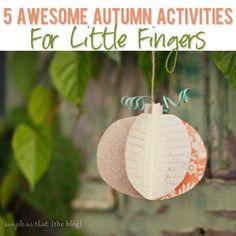 5 Autumn Activities for Little Fingers!  #howdoesshe #autumnactivities #activitiesforsmallkids howdoesshe.com
