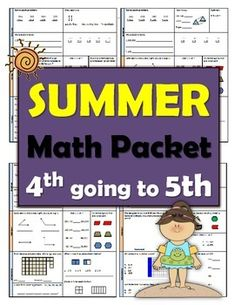 4th Grade going to 5th GradeMath PacketReviewMathSummer PacketCHECK out my summer packet for 1st going to 2nd.1st going to 2nd