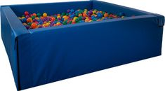 Our Giant Budget Ball Pit meets the budget for a durable, rugged version of the larger recreational ball pits with a lower price. Ball Pit Giant, Sensory Rooms, Sensory Play, Pool Sizes, Play Gym, Toy Rooms, Kids Room Art, Kids Playing, Ball Pits