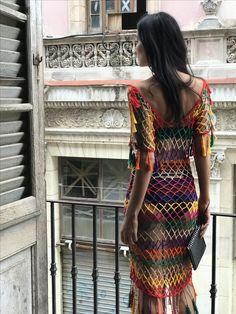 The item was made of cotton yarn Fishnet Dress, Mesh Dress, Crochet Beach Dress, Crochet Lace, Gypsy Dresses, Boho Dress, Crochet One Piece, Aztec Dress, Salsa Dress