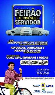 Anúncio de jornal para o Primeiro Feirão de Automóveis do Servidor / Cliente: Governo do Piauí Journaling