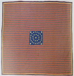 Civil War Quilts: 34 Stars in a Flag: Documented by the New Jersey quilt project. Over pieces. Jersey Quilt, Find Your Ancestors, Civil War Quilts, Patriotic Quilts, Vintage Quilts, Quilting Projects, Appreciation, Finding Yourself, Flag