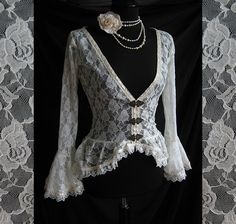 Blouse Papillon victorian steampunk historical by SomniaRomantica, $99.00