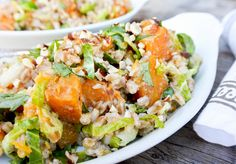 Farro Salad with Butternut Squash, Brussels Sprouts and Leeks   Floating Kitchen