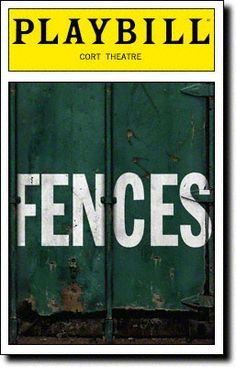 Playbill Cover for Fences at Cort - Opening Night 2010