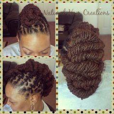 Loc style natural hair