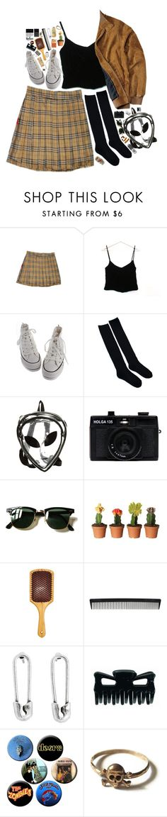 """jokes on you"" by xambergurlx ❤ liked on Polyvore featuring Ralph Lauren, O-Mighty, Holga, Polaroid, Ray-Ban, Eva NYC, T3, Disney Couture, Topshop and vintage"