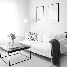 Monochrome + Minimalist living room goals by @via.johanna ✔️