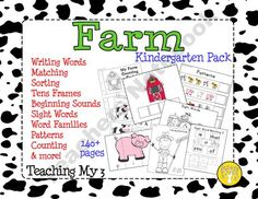 Farm Kindergarten Pack- over 150 pages of fun learning activities