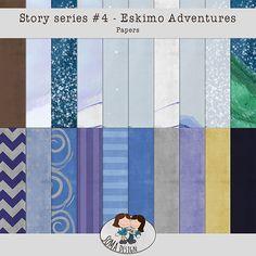 Story Series - Eskimo Adventures Kit The Eskimo Adventures is the fourth part of our Story series. Kit, Scrapbook, Adventure, Paper, Shop, Design, Fairytail, Design Comics
