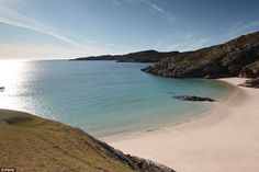 Enjoy Achmelvich Beach, Assynt, Scotland along the way. The unspoiled beach is an ideal place for a pit stop along the road trip for a picnic Scotland Vacation, Scotland Road Trip, Scotland Travel, Scotland Beach, Glasgow Scotland, Edinburgh, Oh The Places You'll Go, Places To Visit, Frames
