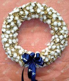 Cotton boll wreath $39.95