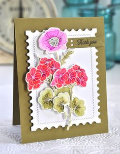 Thank You Card by Dawn McVey for Papertrey Ink (July 2017)