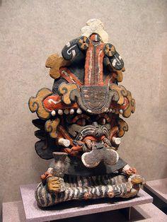 The Zapotec rain god Cocijo. Monte Alban, Oaxaca. Museo Nacional de Antropología, Mexico City.