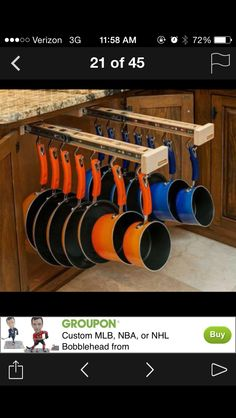 Great way to organize pans