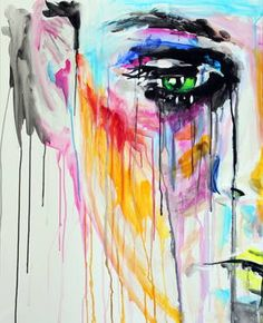 "Saatchi Art Artist Yuliya Vladkovska; Painting, ""scheiss makeup, left"" #art"