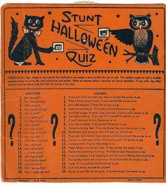 Stunt Halloween Quiz Halloween game USA Beistle HE Luhrs mark fun times