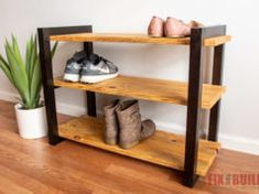 Gereedschap DIY Schuhregal mit Shou Shugi Ban Finish What you need to remember when you are using a Diy Shoe Storage, Diy Shoe Rack, Bench With Shoe Storage, Shoe Racks, Build A Shoe Rack, Shoe Rack Plans, Woodworking Projects Diy, Easy Diy Projects, Woodworking Bench