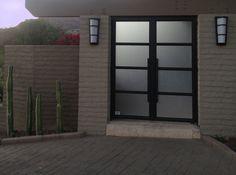 Eurofineline - By Colletti Design - Steel Entry Doors - Residence Steel Windows, Steel Doors, Windows And Doors, Entry Doors With Glass, Glass Front Door, Front Doors, Mobile Cafe, Furniture Design, Garage Doors