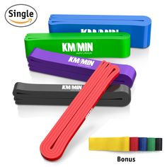 Pull Up Assist Bands, Kmmin Mobility Powerlifting Bands Perfect for Body Stretching Jumping Light Weightlifting Extra Durable Exercises Bands with Highest Resistance (Single Band). ♥OUR LOOP BANDS ARE VERY DIFFERENT, all of our Kmmin loop bands are thoroughly tested again and again before we ship them out to you, they are flexible and extremely sturdy. Our resistance bands are made of 100% pure eco-friendly natural rubber latex. Owing to the continuous layering of rubber sheets of latex…