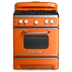 BIG CHILL STOVE: It has that postwar appliance feel, without the fickle temperature ranges and funky old wires. Three years in the making, the Big Chill Retro Stove joins the Boulder, Colorado–based company's retro refrigerators and dishwashers in thrift-shop-treasure colors like cherry red, pink lemonade and jadeite green.