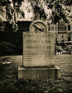 Edgar Allen Poe's original grave | by Darkroomist