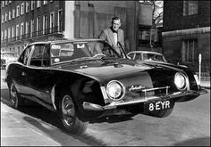 Author Ian Fleming with his 1963 Studebaker Avanti.  #OttoSteininger
