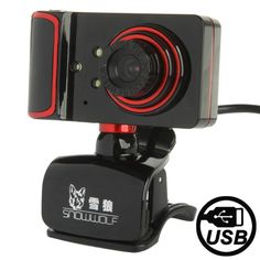 [USD7.12] [EUR6.45] [GBP5.01] Camera Style 16.0 Mega Pixels USB 2.0 Driverless PC Camera / Webcam with MIC, Cable Length: 1.5m(Red)