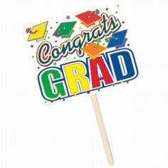 Put this sign in your front yard or outside the door of your 2015 Graduation party to welcome guests to your celebration. #graduation #partycheap