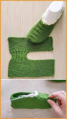 Free Slippers Tutorial knitting for beginners knitting ideas knitting patterns knitting projects knitting sweater Knitting Stitches, Knitting Socks, Knitting Patterns Free, Free Knitting, Baby Knitting, Free Crochet, Knit Crochet, Crochet Patterns, Crochet Stitch