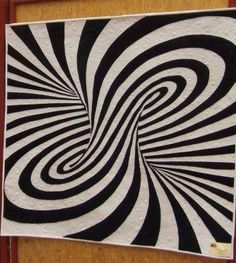 Love this Optical Illusion Quilt.