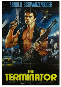 The Terminator (1984) with Arnold Schwarzenegger, Michael Biehn and Linda Hamilton. Written and Directed by academy award Winner James Cameron. One of his best works of the 1980s.