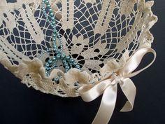 DIY Doily Flower Girl Basket