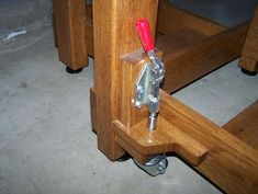 Adding leg levelers and casters to a table - by Bhaupt @ LumberJocks.com ~ woodworking community