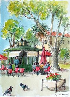 croquis aquarellé: Faro - Portugal by guymoll, via Flickr