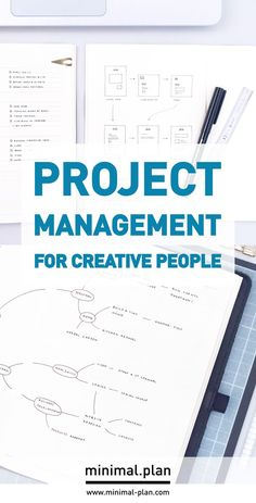 Paper planning is perfect for creative minds. Here's how you can manage multiple projects in a simple notebook while keeping your everyday life on track! Bullet Journal Project Management, Bullet Journal Work, Organization Bullet Journal, Bullet Journal Ideas Pages, Bullet Journal Inspiration, Bullet Journal Minimaliste, Project Management Professional, Bujo, Project Planner