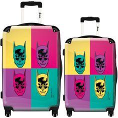 iKase 'Batman' Pop Art' 2-piece Fashion Harside Spinner Luggage Set