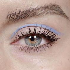 katie jane hughes on instagram   pastel blue graphic eye makeup